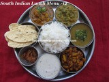 South Indian Special Lunch Menu-12/Lunch Menu Ideas