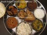South Indian Special Lunch Menu - 5/Lunch Menu Ideas