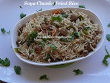 Soya Chunks Fried Rice Recipe/Soya Fried Rice Recipe/Meal Maker Fried Rice/Easy & Healthy Soya Fried Rice