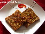 Spicy Bread Toast Recipe/Masala Toast Recipe/Besan Bread Toast /How to make Masala Toast Recipe with step by step photos-Spicy Toast in just 15 minutes