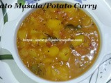 Spicy Potato Masala/Potato Gravy for Chapathi, Roti or Rice/Potato Curry Recipe/Aloo Curry Recipe/Urulai Kizhangu Masala