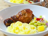 Easy Tandoori Chicken with Pickled Pineapple Cucumber (Acar)