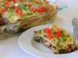 Guest Post – Mexican Lasagna with Spinach, Mushroom, and Caramelized Onion