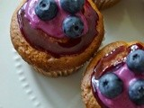 Blueberry cupcake with blueberry preserve glaze - a Guest Post