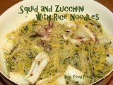 Squid and Zucchini with Rice Noodles