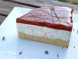 Cheesecake salé ail et fines herbes