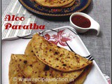Aloo Paratha (Indian fried flatbread stuffed with spiced potato)