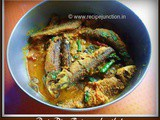 Bata Macher Posto Jhal(Labeo Bata fish cooked with poppy seed)