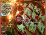Diwali/Deepavali Treat ~ Layered Carrot Halwa and Milk Sandesh Burfi