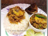 Macher matha Diye Bandhakopir Ghonto (Stir-fry cabbage with fish head) ~ a Bengali Delicacy