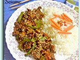 Stir-fried Chicken n Vegetables with Toasted Sesame seeds