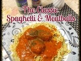 The classic Spaghetti and Chicken Meatballs in Tomato Sauce