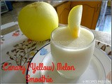 Canary Melon Shake | Yellow Melon Smoothie