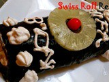 Chocolate Swiss Roll Cake with Blackberry jam