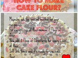 How to make Cake Flour? Cake flour substitute