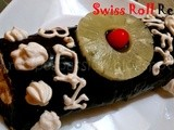 My 7th Guest Post, Chocolate frosted Swiss Roll with Blackberry jam | Swiss Roll Recipe | Birthday Cake Recipes