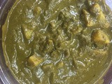 Aloo palak (potato spinach curry)