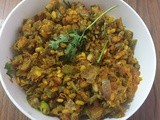 Long beans with moong dal