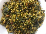 Thotakura pesara pappu eguru (amaranth leaves with moong dal)