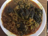 Vankaya kothimeera (brinjal with coriander leaves)