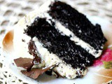 Dark Chocolate Layer Cake with Irish Cream Frosting