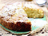 Irish Apple Cake with Whiskey Brown Butter Sauce