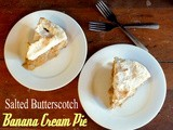 Salted Butterscotch Banana Cream Pie with Meringue
