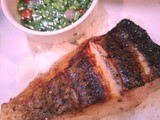 CarolCooks2…This week in my Kitchen…Pan-Seared Salmon with spicy Thai dressing