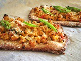 Egg Bhurji Flatbread with Gluten Free Crust