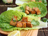 Teriyaki Marinated Tofu Lettuce Wrap