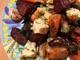 Root Veg and Blue Cheese Traybake