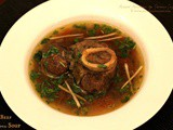 Beef Bone Soup ~ Winter Comfort Food ~ When The Hubby Cooks