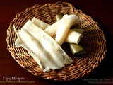 Pajey Madpela ~ Rice Rolls Steamed in Banana Leaves