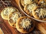 Za'atar & Cheese Manakish ~ Levantine Flatbread #Breadbakers