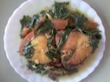 Fish curry with mustard greens (Lai Xaak)