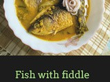 Fish with fiddlehead ferns and bamboo shoots