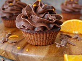 Air Fryer Chocolate Orange Cupcakes
