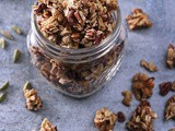Clumpy Cinnamon Cardamom Orange Granola