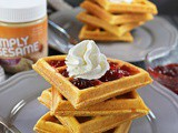 Easy Sesame Sweet Potato Waffles