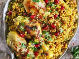 One Pan Israeli Couscous with Chicken