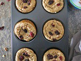 Plant Based Cranberry Walnut Muffins