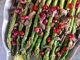 Za'atar Asparagus with Pomegranate