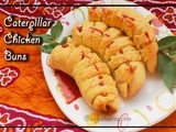 Caterpillar Chicken Buns (In pressure cooker)- Iftar Special