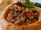 Susie's Cincinnati Chili in Home-baked Bread Bowls