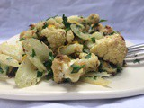 Roast Cauliflower with Pistachios, Meyer Lemon, and Parsley