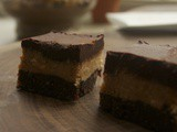 Three Layer Peanut Butter Brownies (Raw)
