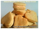 Almond Biscuits with Orange Cream