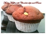 Eggless Mocha Muffins with Chocolate Chips and Pecans