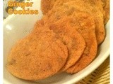 Orange and Ginger Cookies  with Terry's Orange chocolate - Eggless