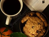 Orange, Oats and Raisin chocolate chip Cookies – Eggless